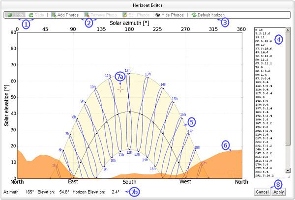 SolarGIS pvPlanner horizon editor1