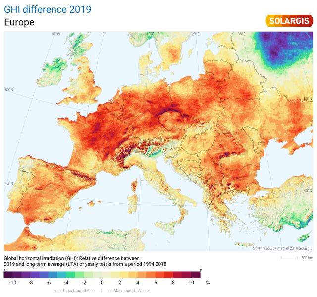 2019 Europe Solar Performance Map