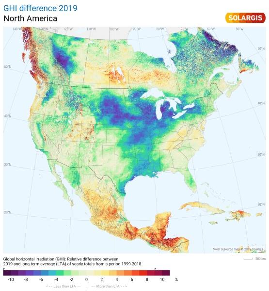 2019 North America Solar Performance Map
