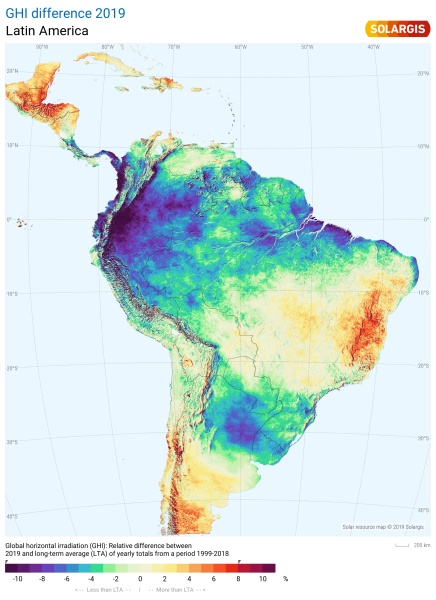 2019 South America Solar Performance Map