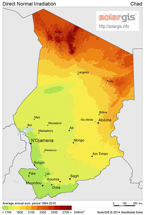 Download Free Solar Resource Maps Solargis - Chad map