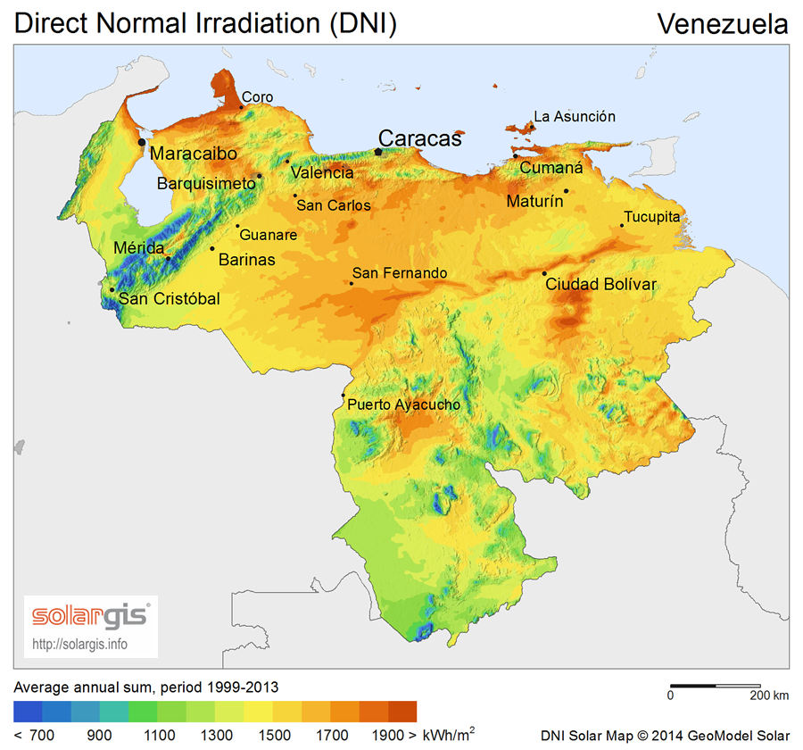 Download Free Solar Resource Maps Solargis - Map of venezuela world