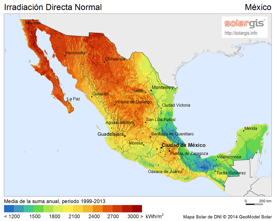 Download Free Solar Resource Maps Solargis - Maps mexico