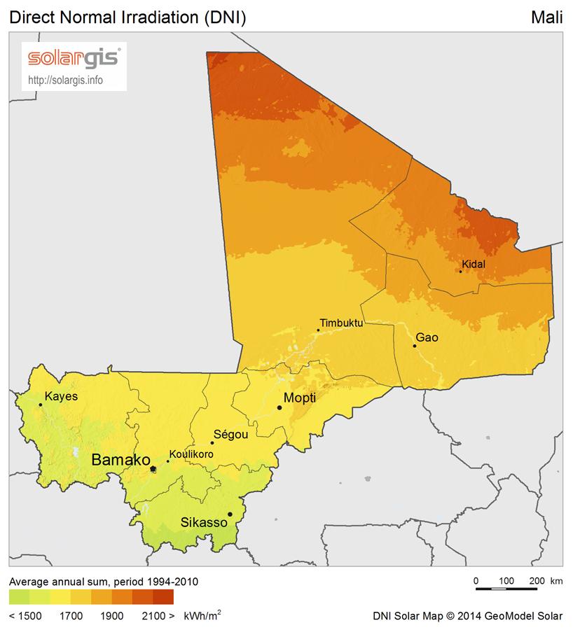 Download Free Solar Resource Maps Solargis - Mali map