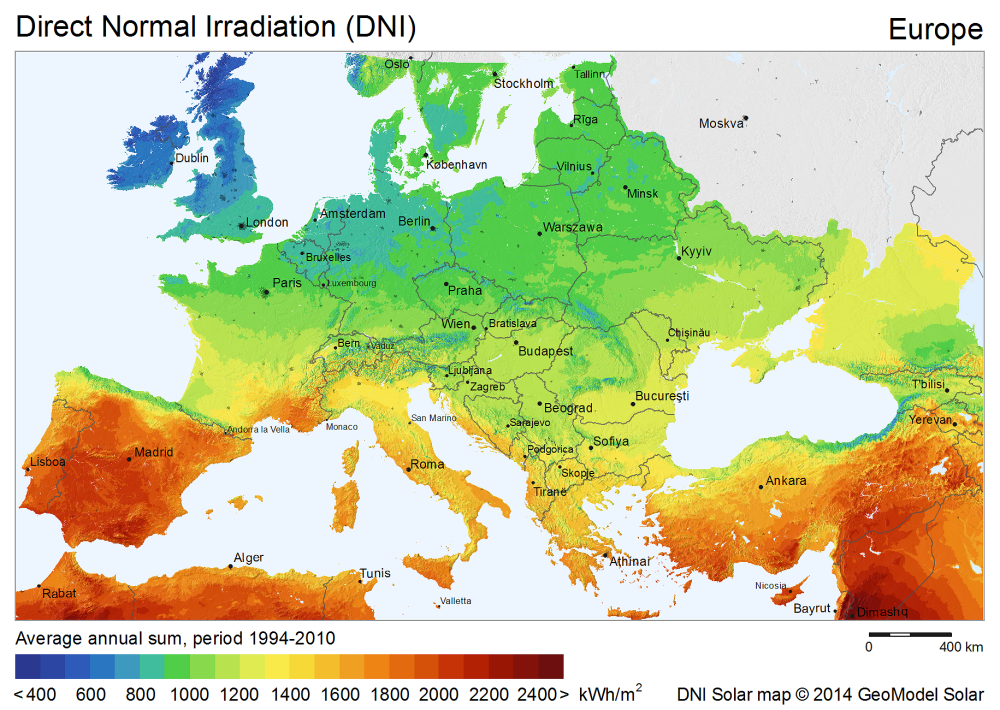 Download Free Solar Resource Maps Solargis - Maps of europe