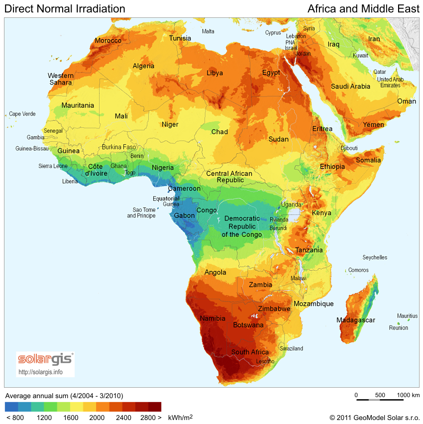 Download Free Solar Resource Maps Solargis - Maps of africa