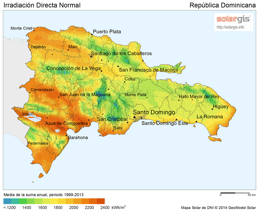 Download Free Solar Resource Maps Solargis - Dominican republic map