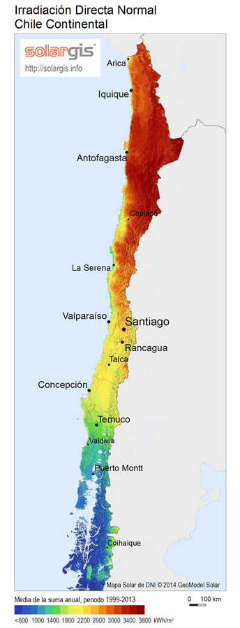 Download Free Solar Resource Maps Solargis - Chile map