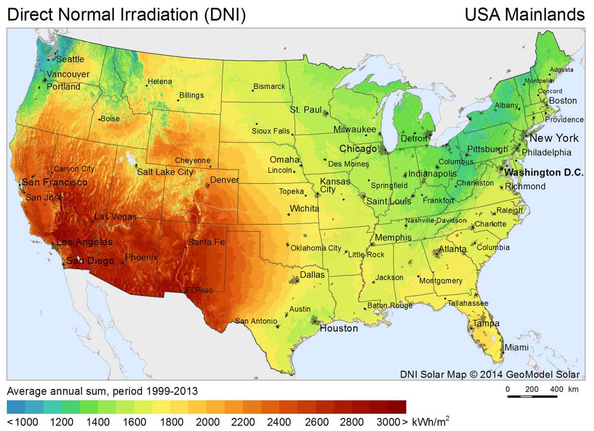 Download Free Solar Resource Maps Solargis - The map of usa