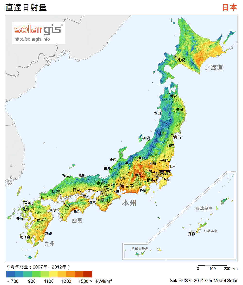 Download Free Solar Resource Maps Solargis - Map japan