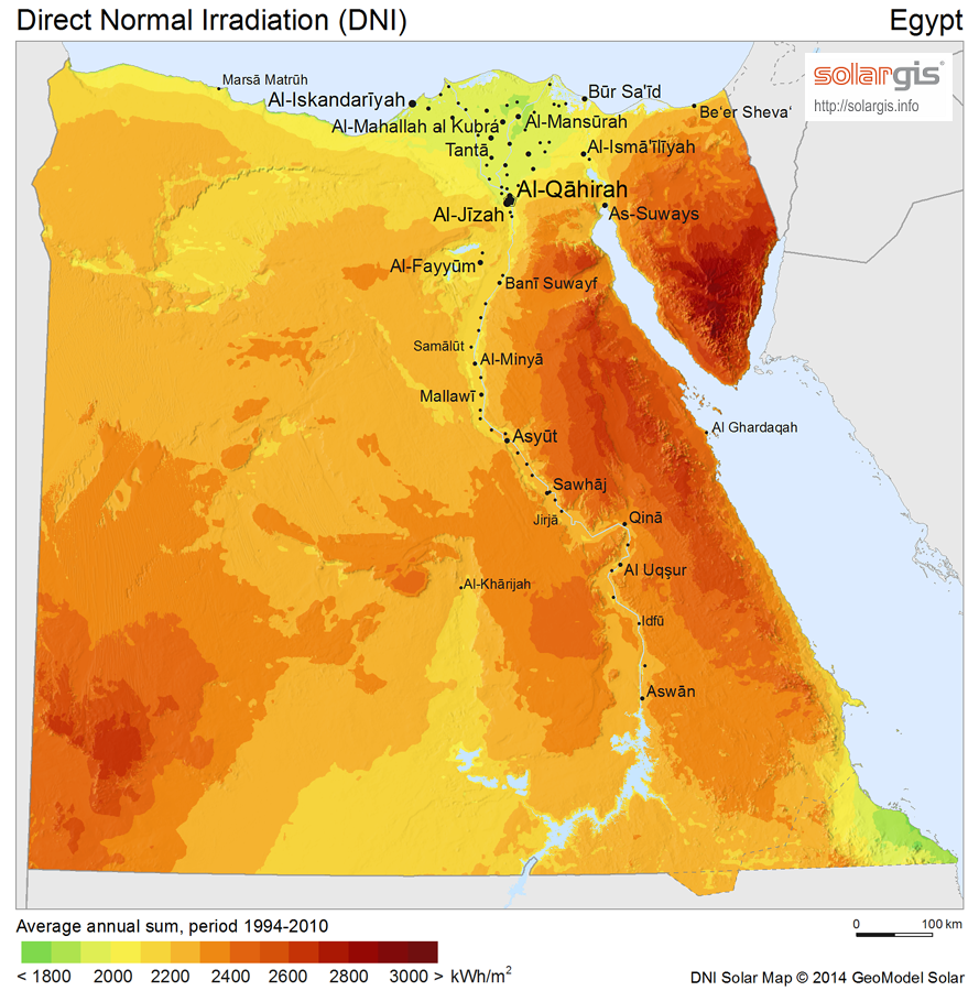 Download Free Solar Resource Maps Solargis - Map of egypt high resolution