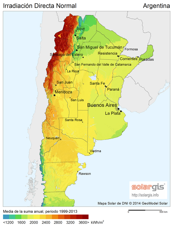 Download Free Solar Resource Maps Solargis - Argentina map