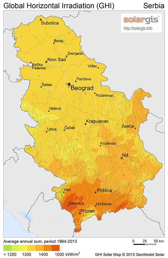 Download Free Solar Resource Maps Solargis - Map of serbia