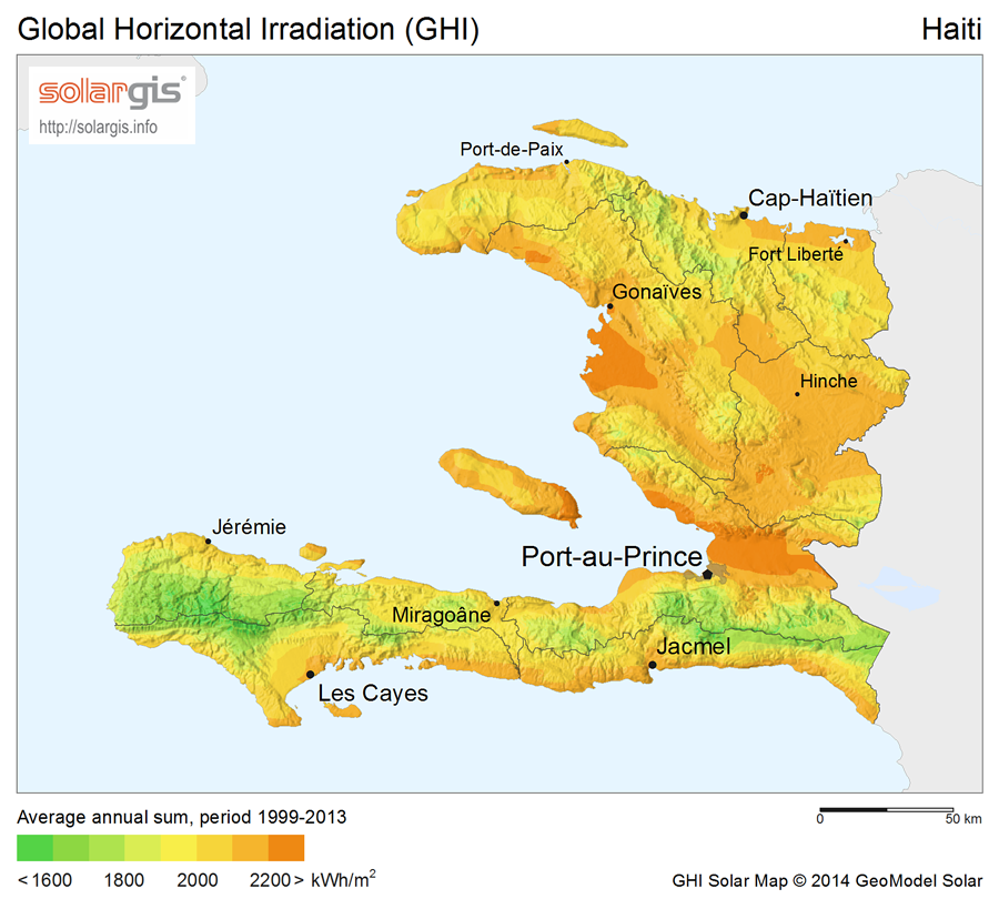 Download Free Solar Resource Maps Solargis - Haiti maps
