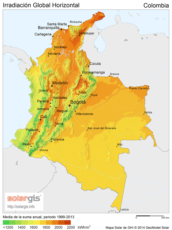 Download Free Solar Resource Maps Solargis - Colombia map