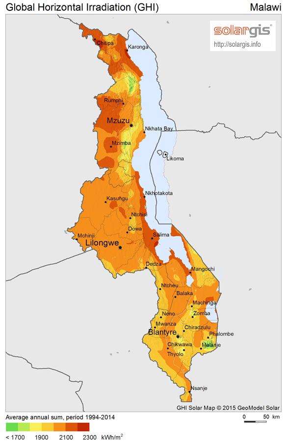 Download Free Solar Resource Maps Solargis - Malawi map