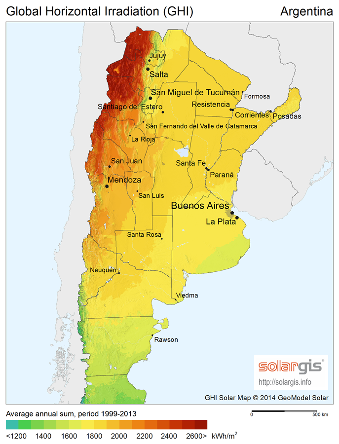 Download Free Solar Resource Maps Solargis - Argentina map download