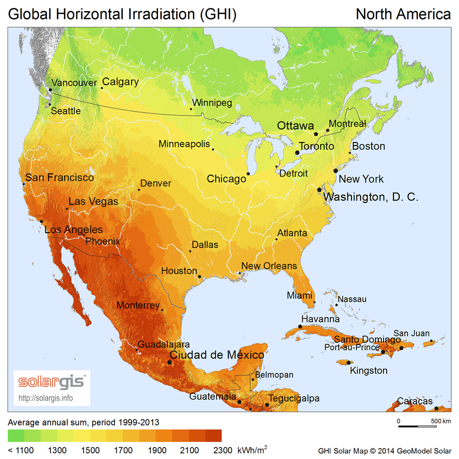 Download Free Solar Resource Maps Solargis - Map of n america