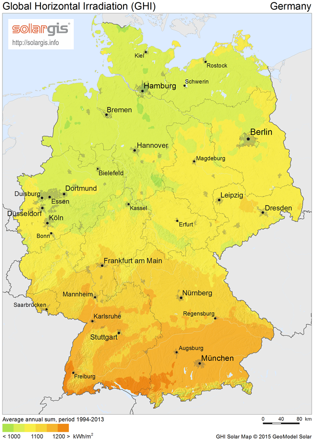 PowerMarket Solar Market Germany - Germany map 2016