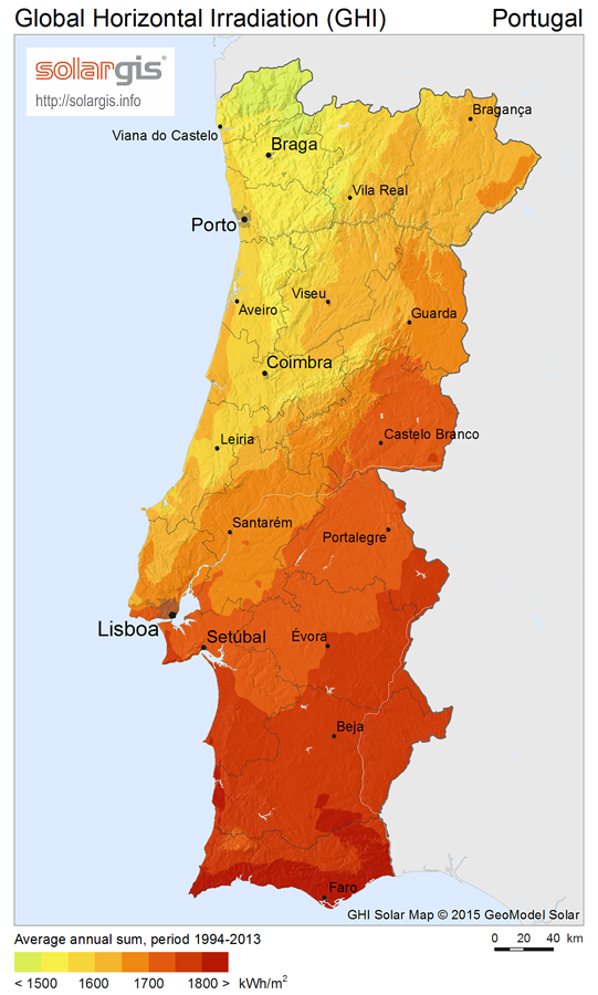 Download Free Solar Resource Maps Solargis - Portugal map 1500