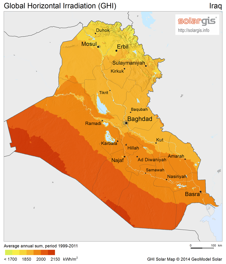 Download Free Solar Resource Maps Solargis - Iraq map