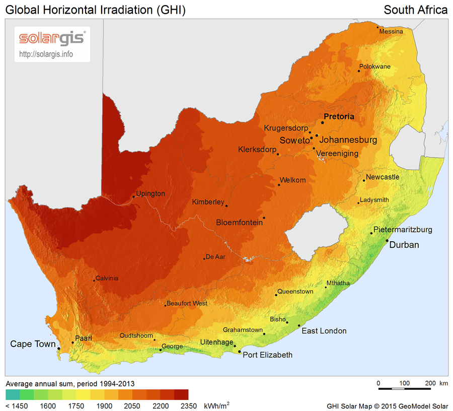 Download Free Solar Resource Maps Solargis - South africa map