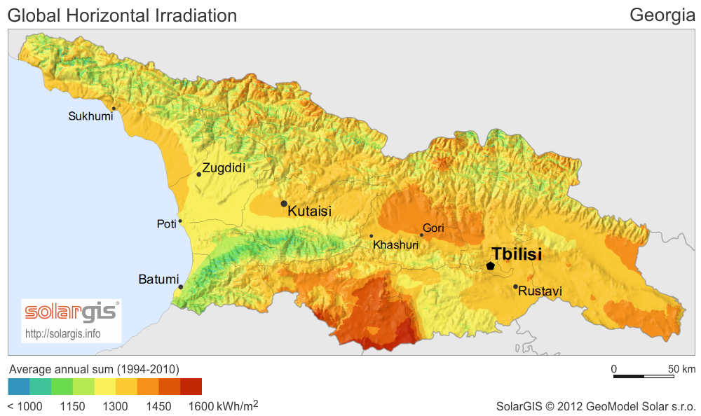 Download Free Solar Resource Maps Solargis - Maps of georgia