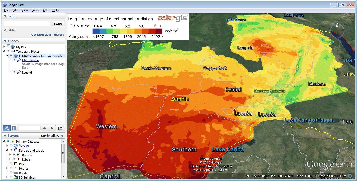 Solar Radiation Maps For Google Earth  Overview Solargis - Google maps us states kml