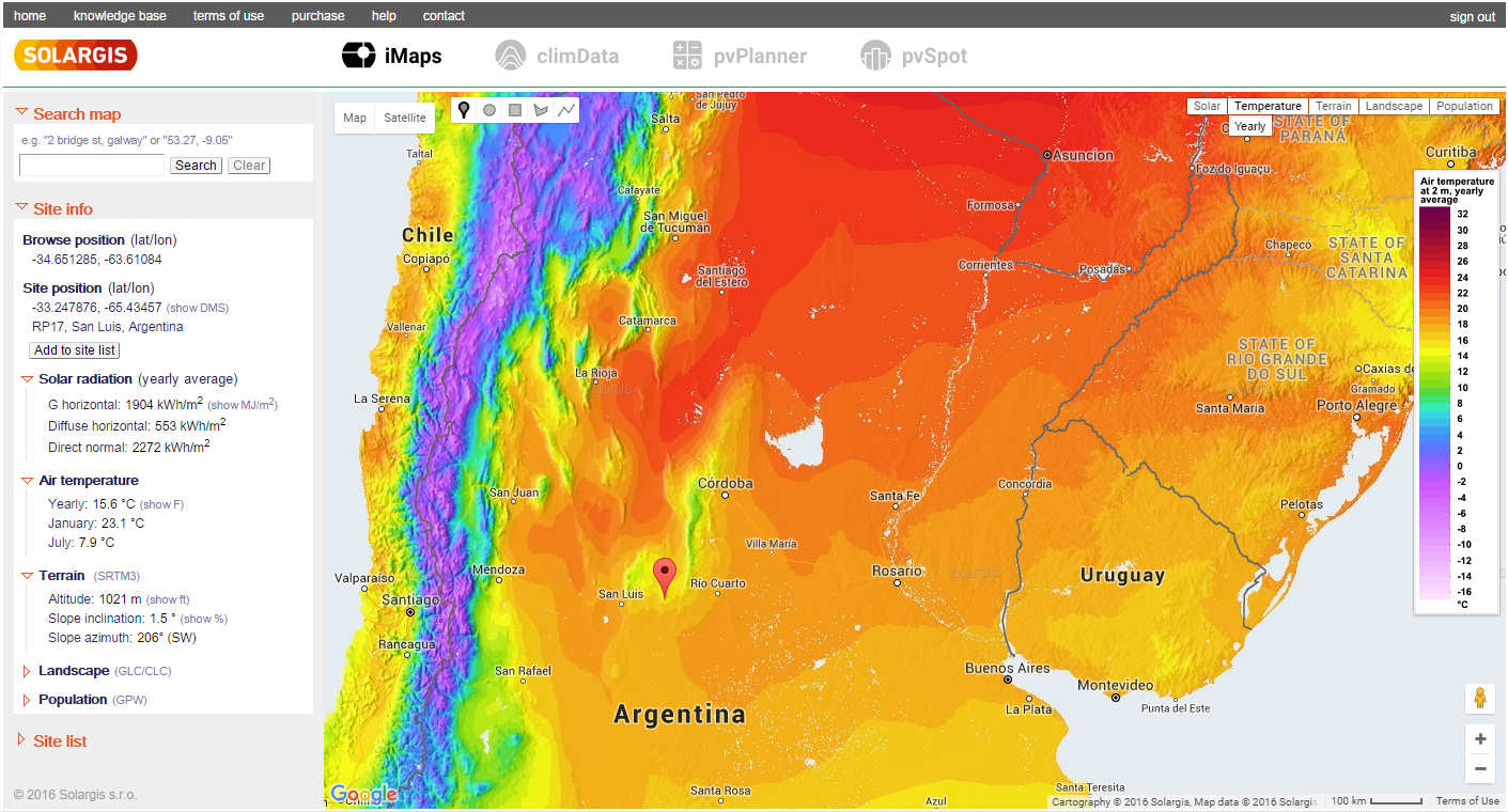 IMaps Interactive Solar Potenial Maps  Solargis - North america air temperature map